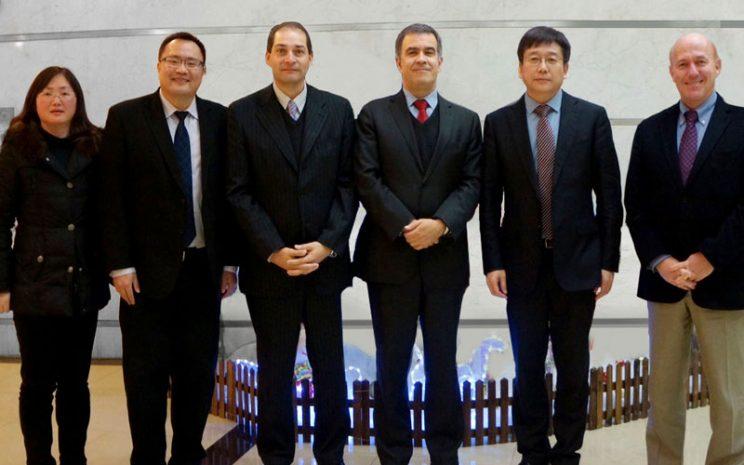 Autoridades UST y East China Normal University de Shanghai
