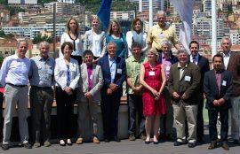 Dr. Nelson Lagos junto a investigadores internacionales