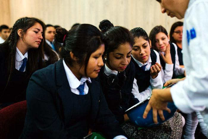 Alumnos asistentes a la charla