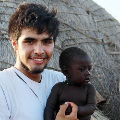 Óscar Meneses en Etiopía