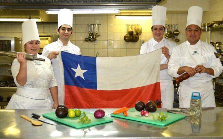 alumnos representantes de Chile en Copa Culinaria