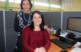 Amparo López y María Angélica Baeza, académicas de la Escuela de Enfermería de Universidad Santo Tomás Viña del Mar.