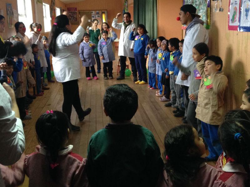 Actividad con alumnos de Escuela Rural