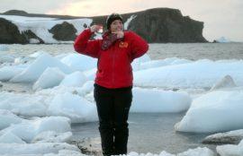 Alumna Vina en Antartica 2