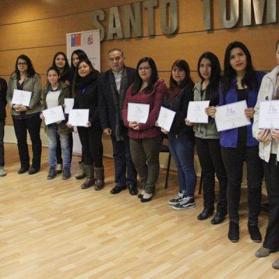 Primer grupo de alumnos certificados.