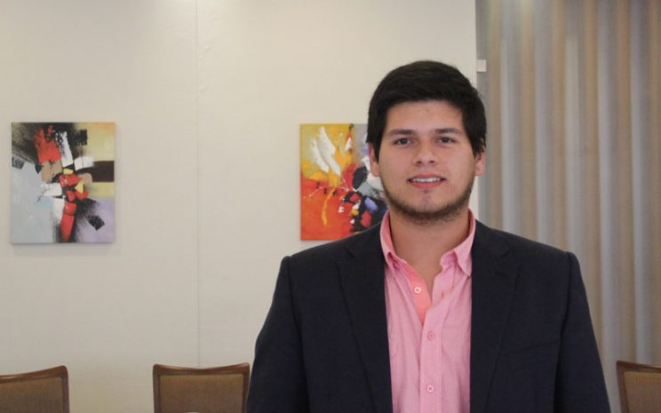 El joven emprendedor, Franco Morales.