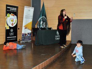 Marcela Villegas realizó una demostración práctica durante su exposición.