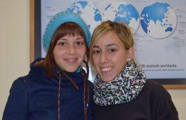 Alba Martin y Lourdes Gutierrez, provenientes de la Universidad estatal de Malaga, España