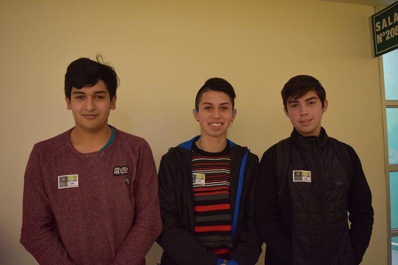 Fernando Lagos, Sebastián Farias y Bryan Ojeda