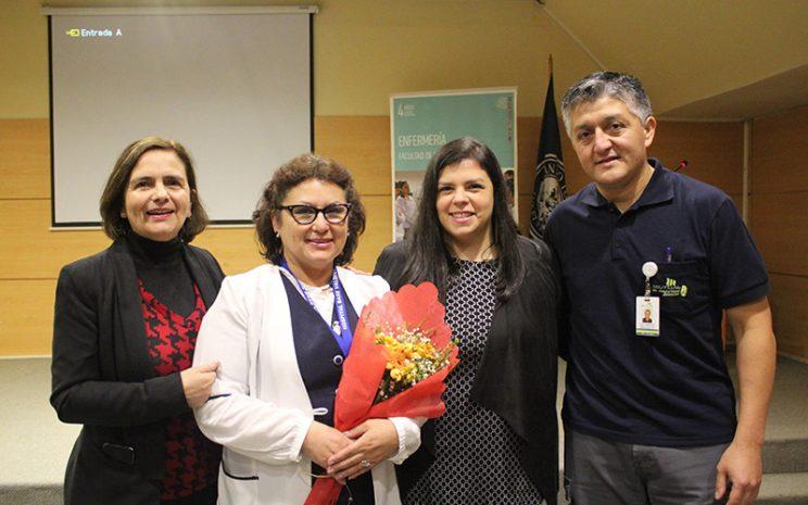 Directora de Carrera, expositora y presidenta del regional de colegio de enfermas de Chile, Jefa de Carrera, y expositor y enfermero clínico e la Mutual.