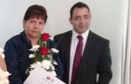 Liliana Cabezas junto al Seremi de Energía, Marcelo Salazar.