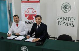 UST y Teletón Firman Convenio