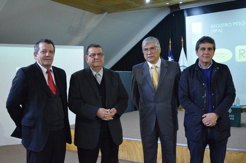 Alberto Augsburger, Rabindranath Quinteros, Eduardo Bustos y Alejandro Santana