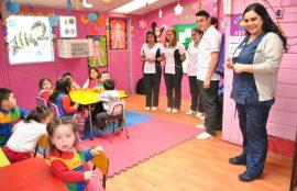Estudiantes Santo Tomás promueven el correcto lavado de manos en preescolares de Osorno