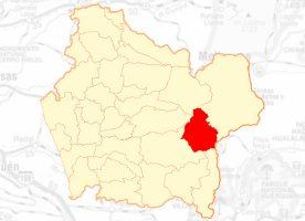 mapa melipeuco