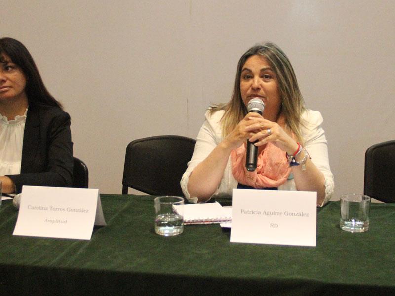Candidata Patricia Aguirre.