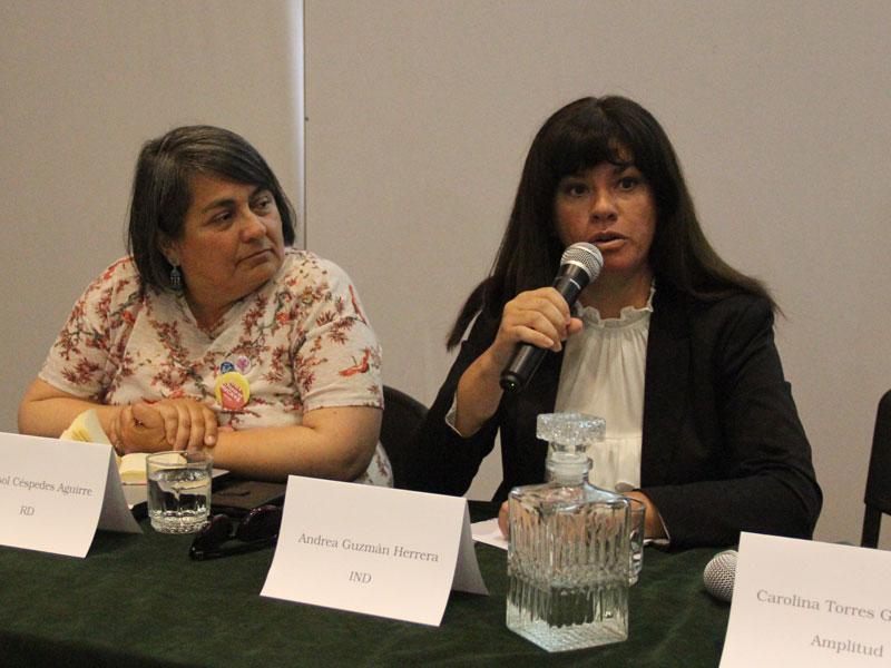 Candidata Andrea Guzmán.