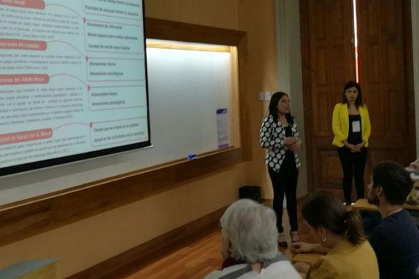 Las alumnas contaron de la implementación de la Unidad de Neuropsicología.