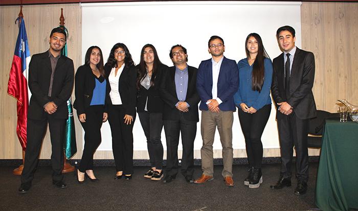 La charla fue organizada por la carrera de Ingeniería Comercial.