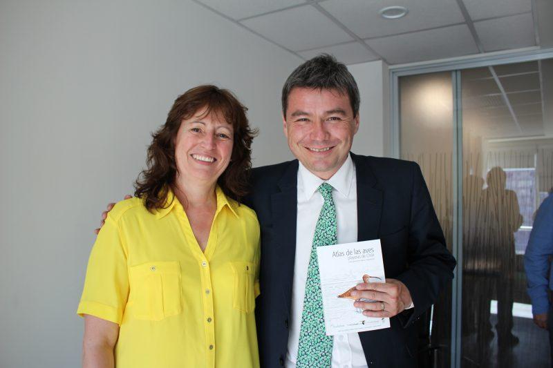 Carmen Espoz con el Ministro del Medio Ambiente