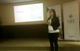 La docente en el congreso en Osorno