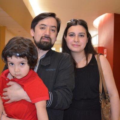 Alonso Mansilla, Alex Mansilla y Evelyn Cumming