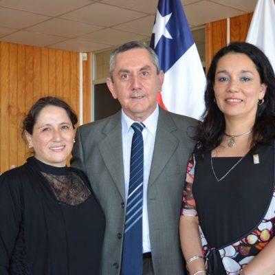 María Cristina Olavarría, Ciro älvarez y Patricia Sánchez