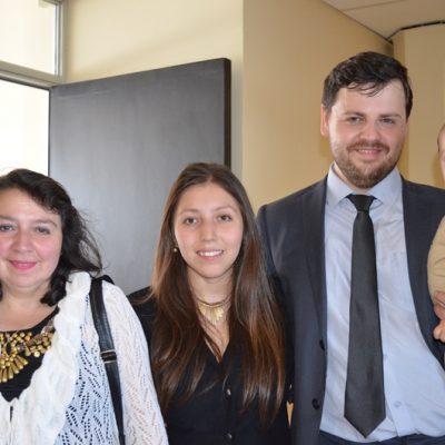 Marcia Gallegos, Rocio Campos, Edgardo Yungue y Máximo Yungue