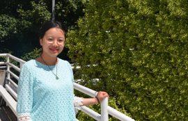 oluntaria china Xue Yu Instituto Confucio