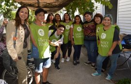 Estudiantes de sede San Joaquín participan de Mechoneo Solidario
