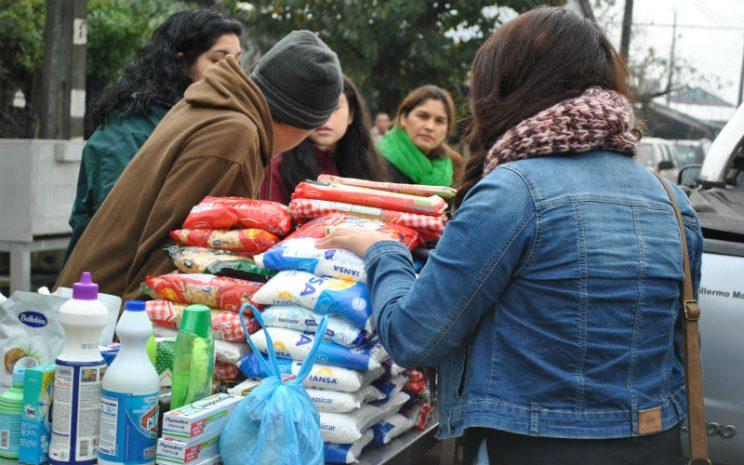 La campaña de recolección de alimentos va en directa ayuda del comedor solidario de la Parroquia San Leopoldo Mandic de Rahue Alto