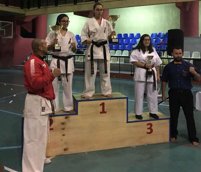 Este es el primer campeonato que Amei gana como cinturón negro.