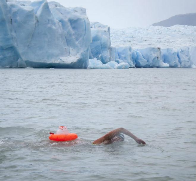 Bárbara nada en temperaturas extremas que parten desde los -5ºC.