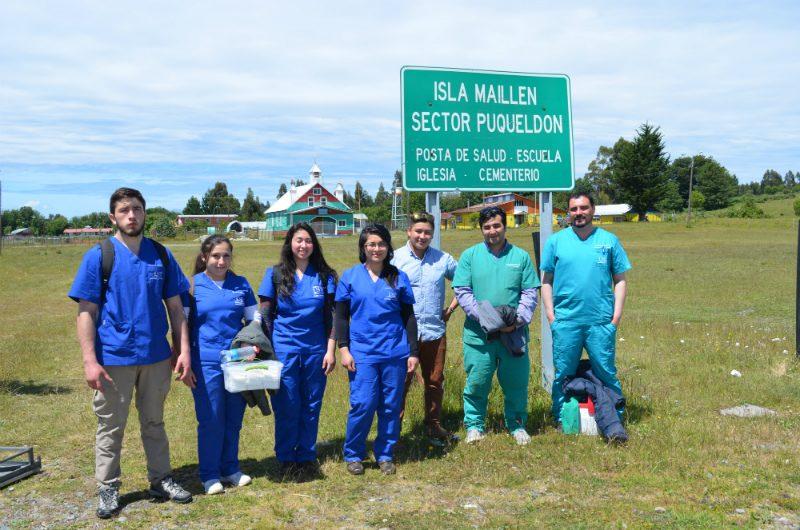 Operativo realizado en Isla Maillen, Chiloé