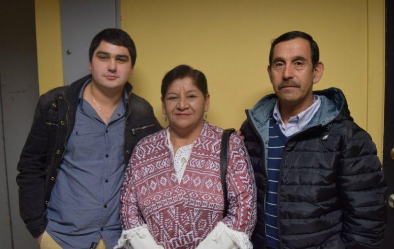 Sebastián García, Jovita Fuentes y Miguel Cárcamo