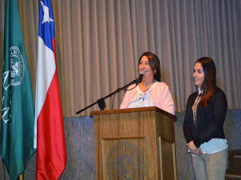 Natalia Bernales, representante de Santo Tomás Temuco para la campaña Buena Convivencia Escolar