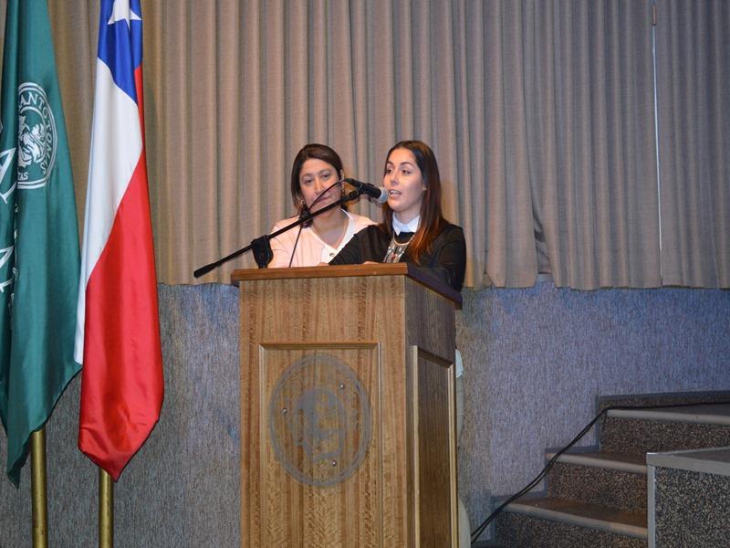 Camila Rojas, representante de diario El Austral de La Araucanía para la campaña