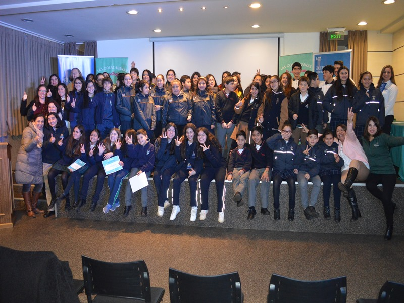"""Premiación concurso """"Contagia cosas Buenas"""" de campaña Buena Convivencia Escolar 2018"""