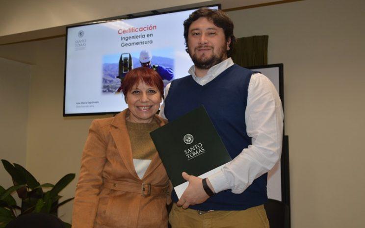 Certificación egresados Ingeniería en Geomensura IP Santo Tomás Temuco