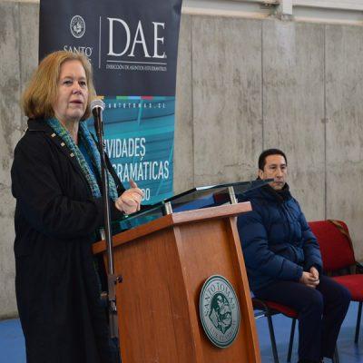 La Rectora de la Sede Temuco, Rosemarie Junge, dio la bienvenida a los participantes