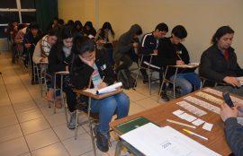 Estudiantes rinden ensayo PSU