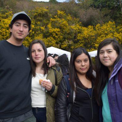 Andrés Sánchez, Jennifer Alvarado, Javiera La Fuente y Jovhana Alarcón