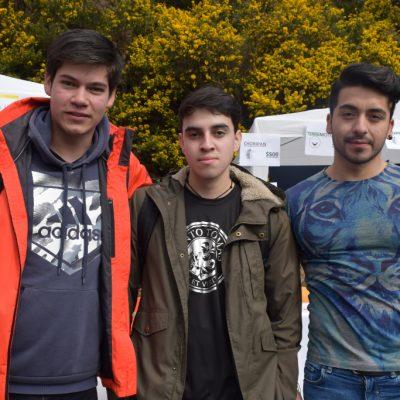 Andru Saldivia, Franco Sánchez, Rodrigo Alvarado
