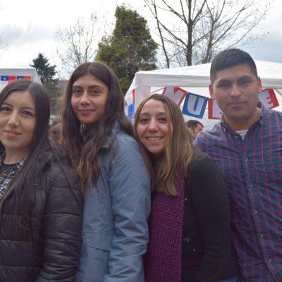 Cintia Palma, Francisca Silva, Lissette Nair y Héctor Cachi