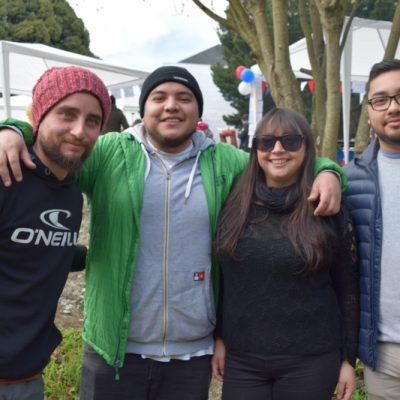 Cristian Cisterna, Esteba reyes, Daniel Delgado y Lorena Cárdenas
