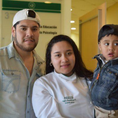 Fabián Soto, Yajaira Huentelican y Adiel Soto