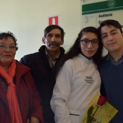 María Barría, José Martinez, Valentina Martinez y Francisco Roberts