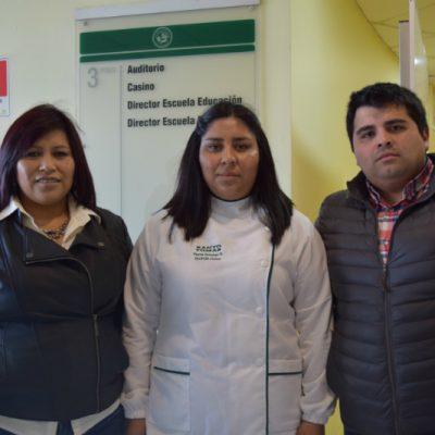 Sandra Ojeda, Yasna Quichel y Eduardo Cerna