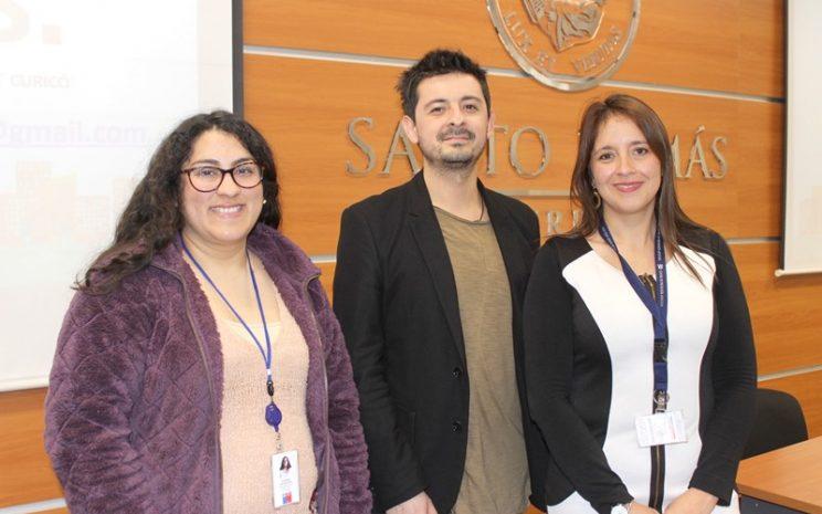 Viviana Rivas, Ismael Carvajal y Andrea Lozano, profesionales del centro de salud mental RAYUN.
