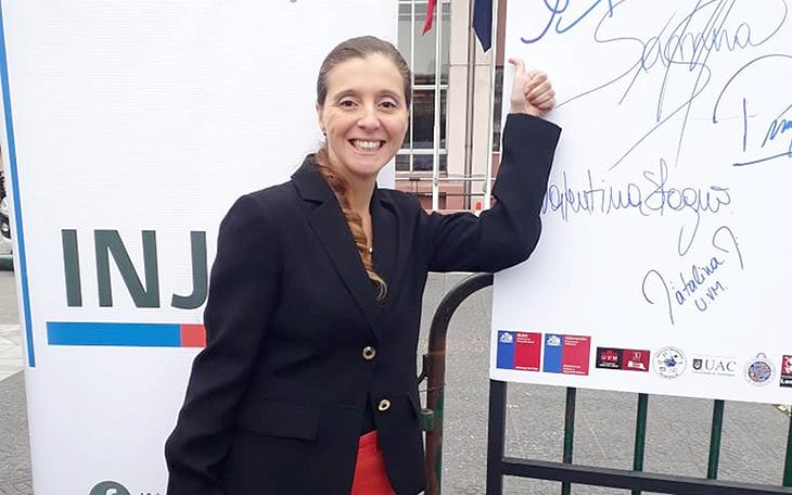 Loreto Caviedes, directora de Asuntos Estudiantiles, en campaña #YoNoMechoneo